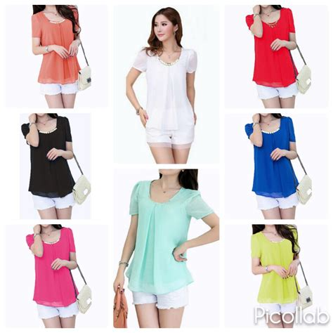 Baju Blouse Panjang Cewek Korea atasan baju pakaian blouse model korea wanita korean style