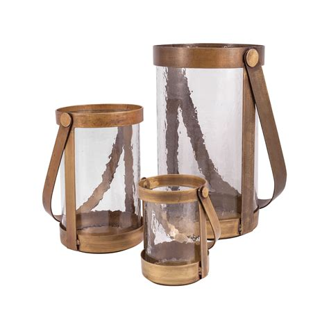 Glass Floor Candle Holders by Rustic Iron Glass Floor Lantern Candle Holder