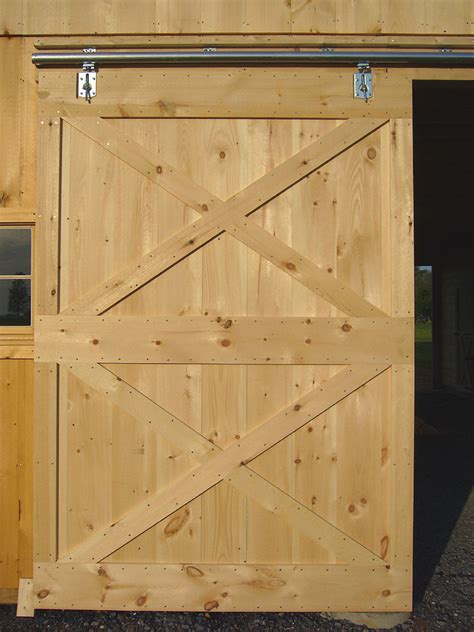 How To Build A Barn Door Barn Door Construction How To Build Sliding Barn Doors