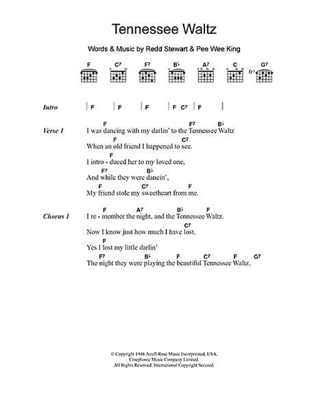 waltz lyrics tennessee waltz sheet by patti page lyrics chords