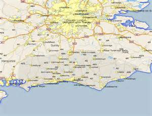 road map of south south nutfield map and road maps of sussex uk