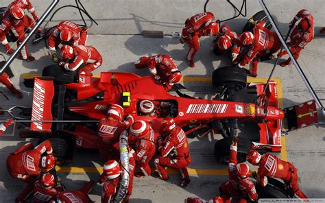 Pit Top Formula One Pit Stop Air View 1920x1200 Wide