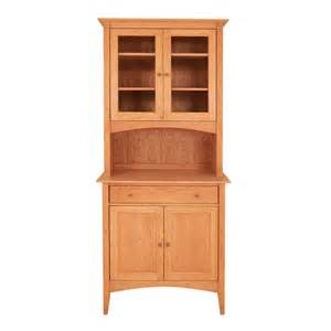 cherry moon china cabinet american made solid wood furniture small buffet amp hutch