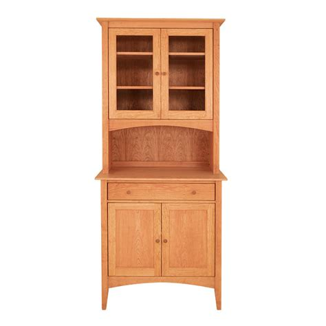 Small Dining Room Hutch by Cherry Moon China Cabinet American Made Solid Wood
