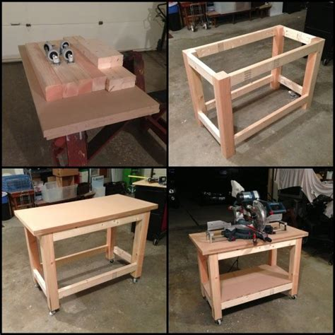 miter table diy table table