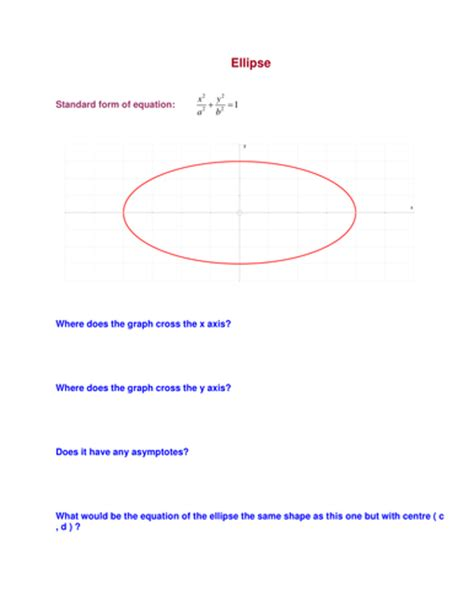 conic sections notes pdf complete conics notes exles and tests by mathplane