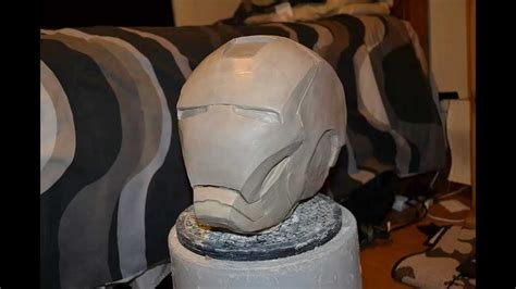 Modelling Clay Iron iron helmet sculpt in wed clay