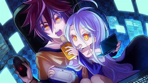 wallpaper game anime no game no life sora no game no life shiro no game no