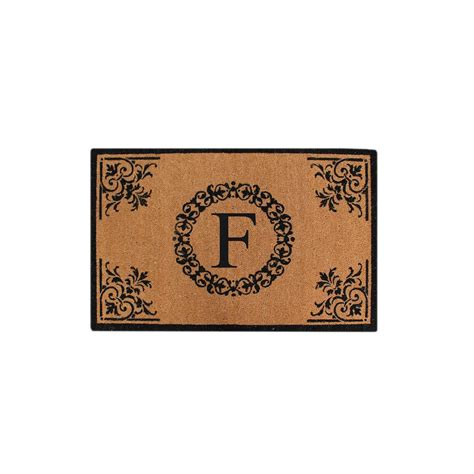 Monogrammed Entry Door Mat by A1hc Crafted Floral 30 In X 48 In Monogrammed F