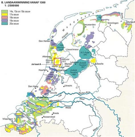 netherlands map reclaimed land the world s catalog of ideas