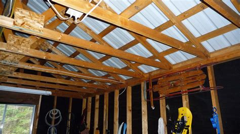 Insulate Garage Ceiling Open Rafters The Better Garages How To Insulate A Garage Ceiling