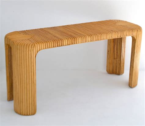 Rattan Console Table Split Rattan Console Table At 1stdibs