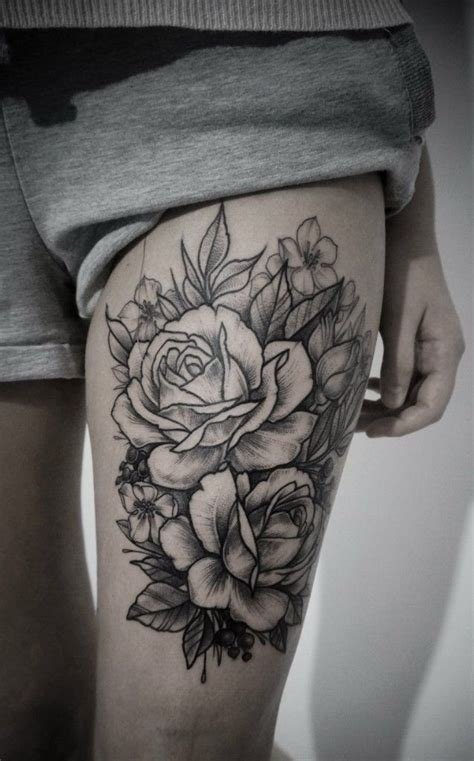 rose tattoo up side best 25 flower thigh tattoos ideas on side of