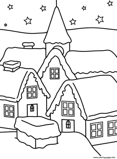 coloring pages of winter houses house of winter s for kids2411 coloring pages printable