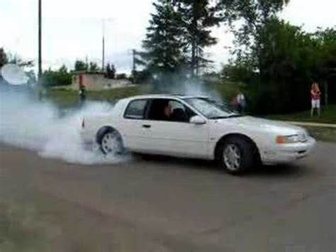 1990 cougar xr7 sc burnout youtube