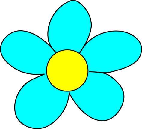 printable flowers clipart blue flower clip art at clker com vector clip art online