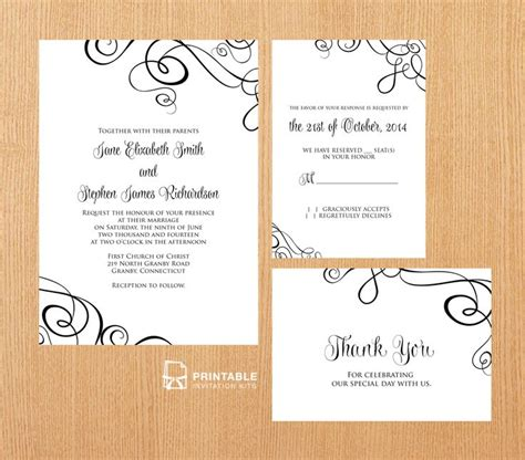 print at home invitation templates 1000 images about wedding invitation templates free on