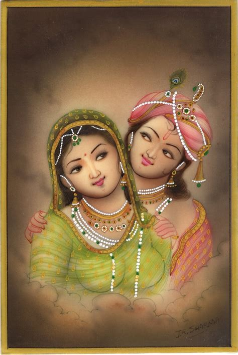 Handmade Paintings Of Radha Krishna - krishna radha miniature handmade indian ethnic hindu