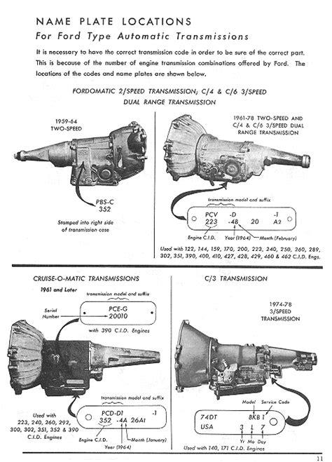 Kelly hotrod - Ford C4/C6 transmission data and links