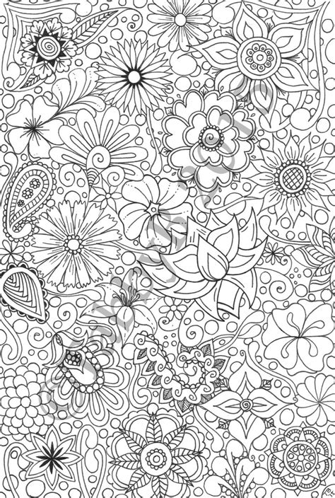 Flower Doodles by TabbysTangledArt on Etsy https://www