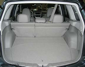 2009 Subaru Forester Cargo Space 2009 Subaru Forester