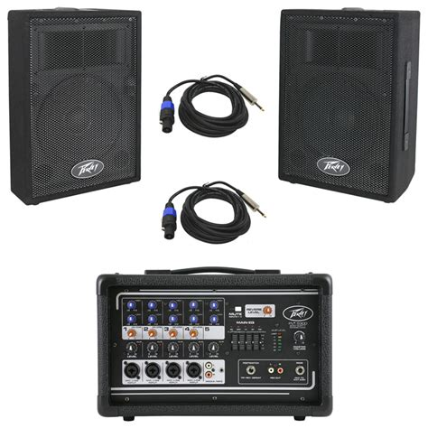 Mixer Audio Pvi peavey pvi 5300 pro audio 5 channel powered 200 watt mixer