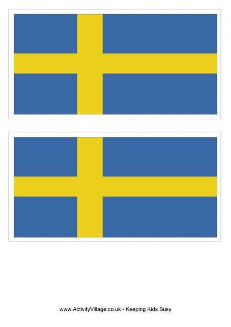 sweden flag printable