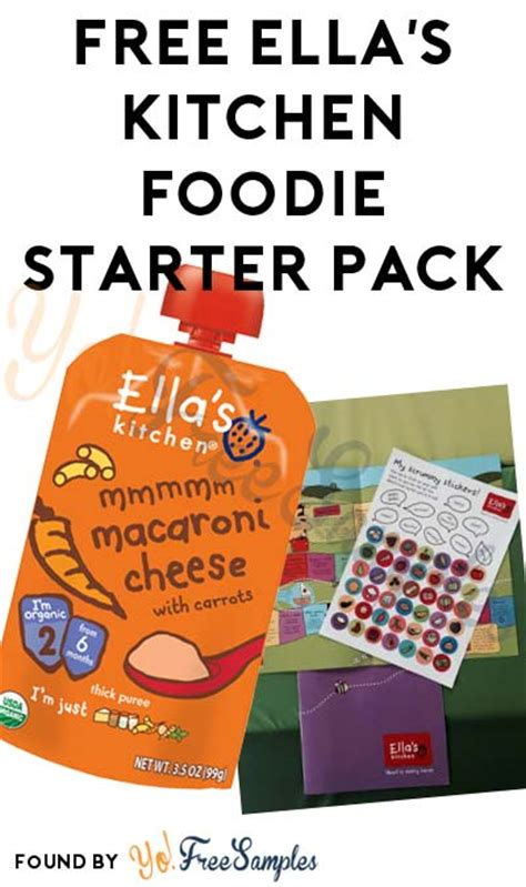 Ella S Kitchen Free Weaning Pack by Free Ella S Kitchen Foodie Starter Pack Verified Received