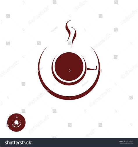 trendy coffee shop checked vector background http www welovesolo coffee shop logo template natural abstract stock vector