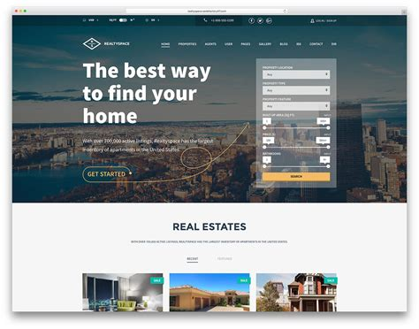 36 Best Real Estate Wordpress Themes For Agencies Realtors And Directories 2018 Colorlib One Page Real Estate Website Templates