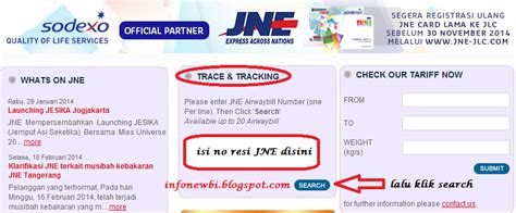 cek resi lengkap cara cek no resi pengiriman jne via online infonewbi