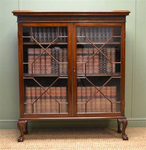Quality Edwardian Mahogany Antique Glazed Bookcase / Display Cabinet   257355   Sellingantiques