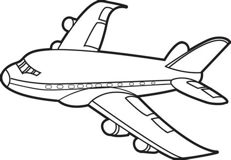 free printable jet airplane coloring page for kids