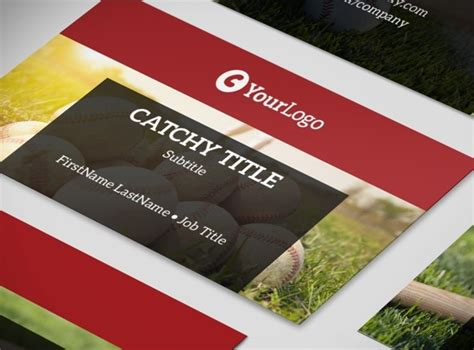 sports business cards templates baseball c baseball sports c business card