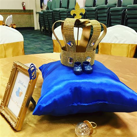 royal prince baby shower centerpieces these royal crowns
