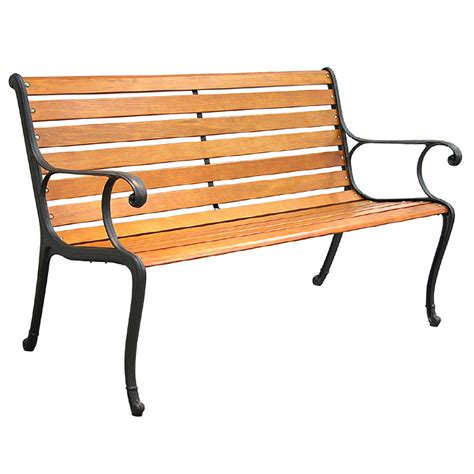 patio wooden bench shop garden treasures 50 5 in l patio bench at lowes com