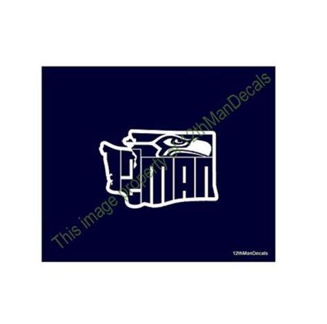 seattle seahawks decal  man logo  washington state