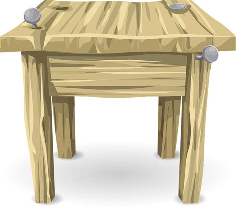 Free vector graphic: Table, Desk, Wood, Furniture   Free