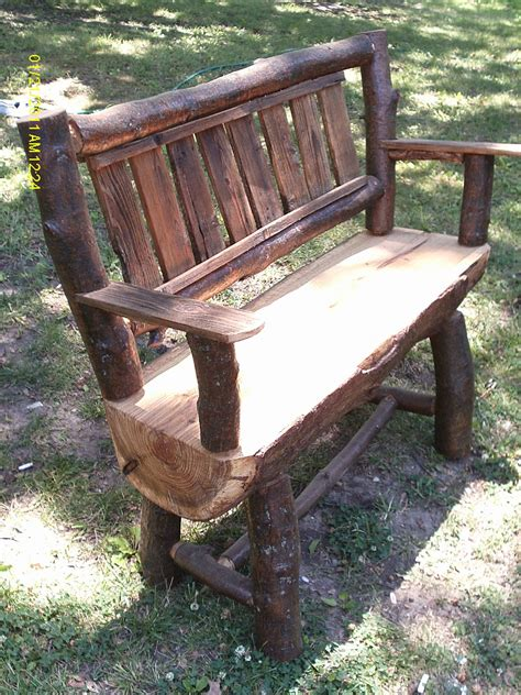 Handmade Log Furniture - handmade rustic log furniture oak log bench and coffee