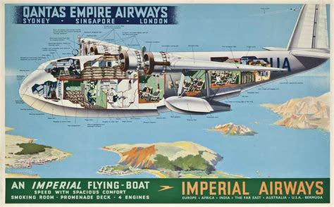 flying boat victoria falls anonymous qantas imperial airways an imperial flying