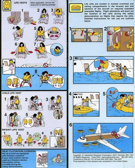 passenger safety informationjpg airplane