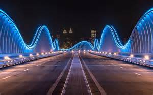 Download wallpapers dubai bridges in dubai night modern