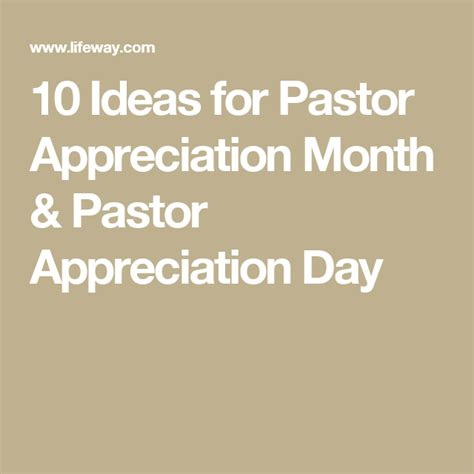appreciation letter to youth pastor 10 ideas for pastor appreciation month pastor