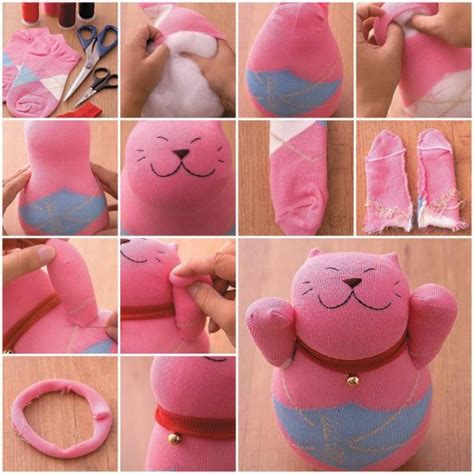 sock cat how to make how to make sock lucky cat doll diy tutorial