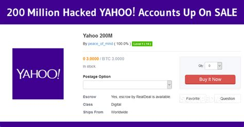 email yahoo hacked what to do hacker selling 200 million yahoo accounts on dark web