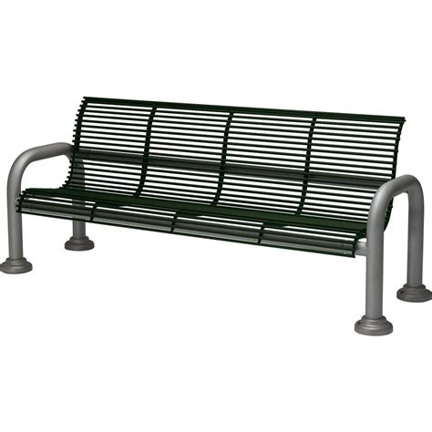 hd bench tradewinds harbor 6 ft contract bench with back in hunter