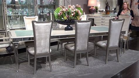 aico dining room furniture bel air park dining room set by michael amini