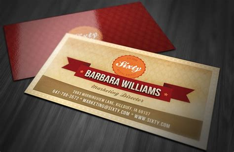 retro business card template 50 awesome business card templates vandelay design