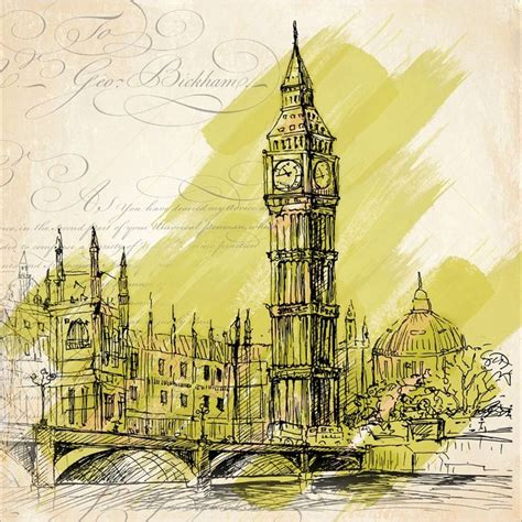 Lukisan Modern Big Ben find more painting calligraphy information about architectural sketch watercolor big ben the