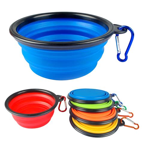 silicone collapsible feeding bowl dog water dish cat